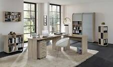 Arbeitszimmer Schreibtisch Büromöbel komplett Set OFFICE PROFI Eiche Sonoma Nb.