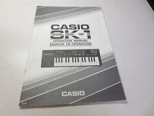 Casio SK-1 Operation MAnual Manual De Operacion  SA0360061A