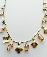 Pilgrim Jewelry Delicate Gold Necklace With Faceted Pink Beads. Price $12.95