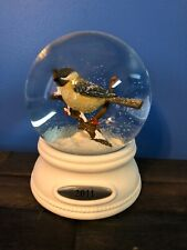 Smith & Hawken Chickadee Bird On A Branch Snow Water Globe 2011