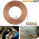 Plated Copper 25 Ft. Roll Coil Of 316 Od Brake Line Tubing Kit Repair Fittings