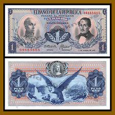 Colombia 1 Peso Oro, 1973 P-404e Andean Condor Unc