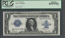 Fr. 237 1923 $1 Silver Certificate MD block PCGS GEM 65 PPQ
