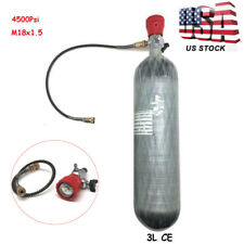 Paintball Scba Cylinder 4500psi 3L Ce Carbon Fiber Tank Pcp With Regulator Vlave