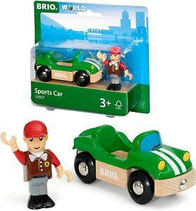 BRIO Wooden Sports Car & Figure for Children Age 3+ 33937 FREE DELIVERY *UK*