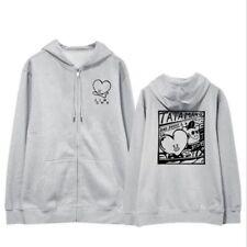 New KPOP BTS Zipper Sweatshirt  Bangtan Boys unisex Casual Hoodie