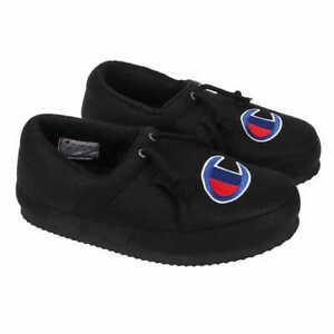 Champion Unisex Men's University Slippers - BLACK (Select Size: 4-13) FAST SHIP