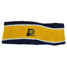 NBA Indiana Pacers Fleece Yellow Head Sweat Sports Band Basketball Double Stripe