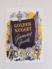 Vintage 1949 Golden Nugget Casino Gambling Hall Guide ~ Las Vegas Nevada Gaming