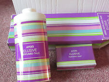 VINTAGE AVON ELUSIVE TALCUM BODY POWDER TALC 100G & SOAP PERFUMED PAIR