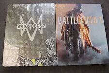BATTLEFIELD 1 & Watch Dogs 2  Steel Case STEELBOOKS G2  BRAND NEW !!!! RARE