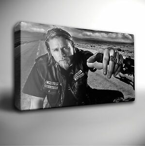 Sons Of Anarchy Jax Teller GICLEE CANVAS Wall Art Picture *Choose your size