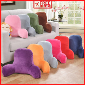 NEW Back Rest Support Cushion Sofa Armrest Plush Pillow 8 Solid Colours 2 Sizes