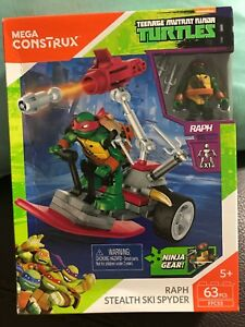 Mega Construx Raph Stealth Ski Spyder Building Set NEW Toys TMNT Kids Kits