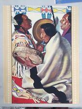 Winold Reiss poster - Blackfeet Indians of Glacier National Park - 1940