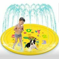 Fun Sprinkle and Splash Play Mat Toddler Kids Pool Water Toy, Yellow 68""