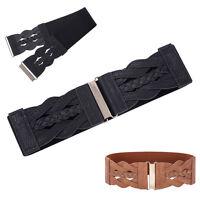 Fashion Womens Ladies Girls  Wide Elastic Stretchy Thin waist Braided belt Hot