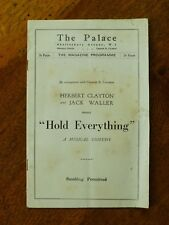"""""""Hold Everything"""" theatre programme - The Palace, Shaftesbury Ave., London, 1929"""