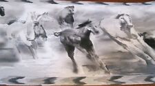 Wallpaper Border Painted Pony Wild Horses Horse Black White Border NEW EH998827