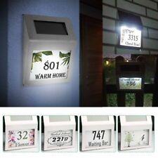 Brauch Solar Hausnummer Beleuchtung 2 LED Hausnummernlicht Lampe Glas Edelstahl