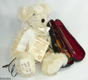 Hermann White Angel Mohair Bear w/Violin Limited Edition Bear