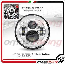 "Faro LED Silver Omologato 7"" per Harley Davidson Touring - Headlight Front LED"