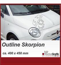 Fiat 500 Abarth / Punto / 500 / Skorpion / Outline Aufkleber Seitenbeschriftung