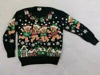 Vintage Nutcracker Crew Neck Ugly Christmas Sweater Size Small