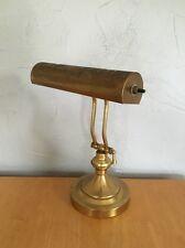 Vintage Brass Lamp Table / Desk / Piano Adjustable Underwriters Laboratories