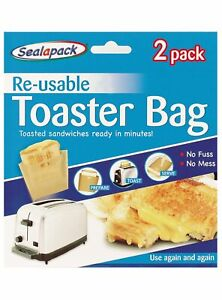 Reusable Toaster Bags, pack of 2, toasted sandwich bags, heat up pizza