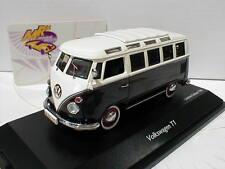 Schuco 03696 # Volkswagen VW Bus T1 Samba in schwarz-cremeweiß 1:43 Neuheit !!