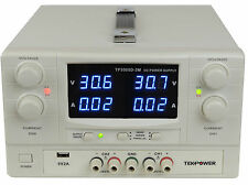 Used TekPower TP3005D-3M DC Power Supply Adjustable 0-30V 0-5A Dual Outputs