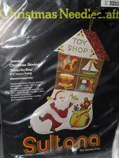 Santa's Toy Shop Jeweled Felt Christmas Stocking Kit Sultana Needlecraft 32111