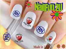 "RTG Set#580 IMAGE ""Nurse 2 RN Heart"" WaterSlide Decals Nail Art Transfers Salon"