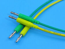"50cm / 20"" Silicone Test Leads with Banana Plugs (1 Pair Yellow + Green)"