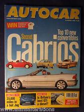 AUTOCAR Magazine 5th August 1998 Secret Cabrios
