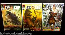 AXE COP BAD GUY EARTH #1-3 2 Complete Dark Horse Comics Lot Nicolle 2011 VF