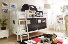 Schwarze Kinder-Bettgestelle ohne Matratze aus Kiefer zum Zusammenbauen