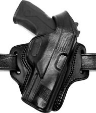 TAGUA BH1 Right Hand Black Leather OWB Thumb Break Belt Holster - CHOOSE GUN