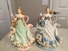 """MONTEFIORI COLLECTIONS 11"""" Tall Figurines. Lot Of Two. #38272 & 38272B. Vintage."""