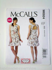 McCall'sSewing Pattern M6924 Sz AX5 (4-6-8-10-12) Misses' Dresses