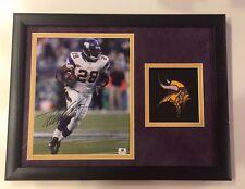 Adrian Peterson Minnesota Vikings Poster Plaque Framed Autograph Signed GAI COA