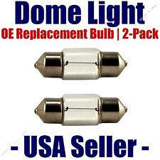 Dome Light Bulb 2-Pack OE Replacement - Fits Listed Honda Vehicles - DE3425