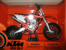 MINIATURE MOTO KTM 450 SXF  NEW RAY 1/10