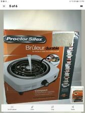 Proctor Silex Electric Single Burner, Compact and Portable, Adjustable Temperatu