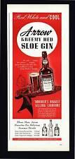 VINTAGE PRINT AD 1948 ARROW KREEMY HED SLOE GIN LIQUEUR