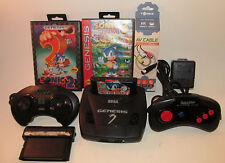 Sega Genesis Mini Console Model 3 MK-1461 System Sonic 1 2 3 Bundle 4 Games Good