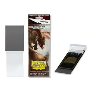 """Dragon Shield - PERFECT FIT - """"SMOKE"""" Sealable 100 Bustine - MTG Magic Pokemon"""