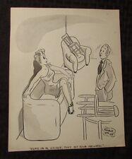 Vintage Charles Chas Sage 8x10 One Panel Gag Original Art Wash SIT ANYWHERE