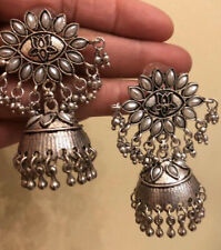 Ethnic Oxidized Silver Ear Rings Jewelry-USA Seller Free Shipping